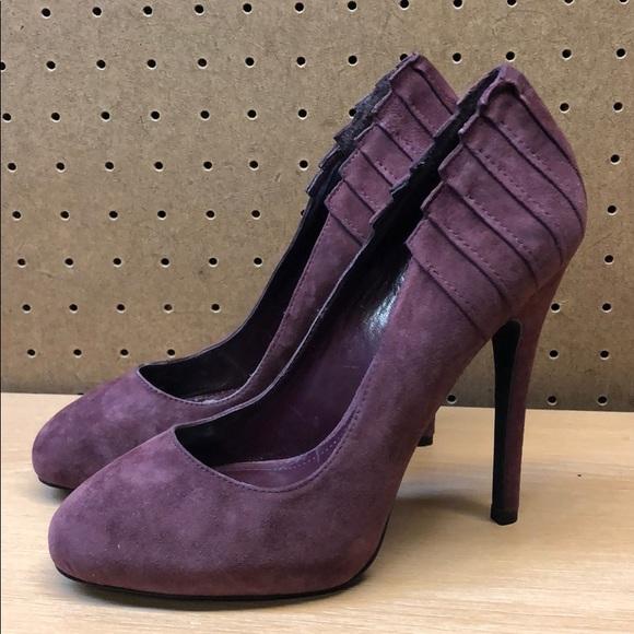 b5c1193bb4 Aldo Shoes | Womens Burgundy Suede Heels Sz 75 Eur 38 | Poshmark